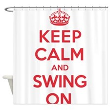 K C Swing On Shower Curtain