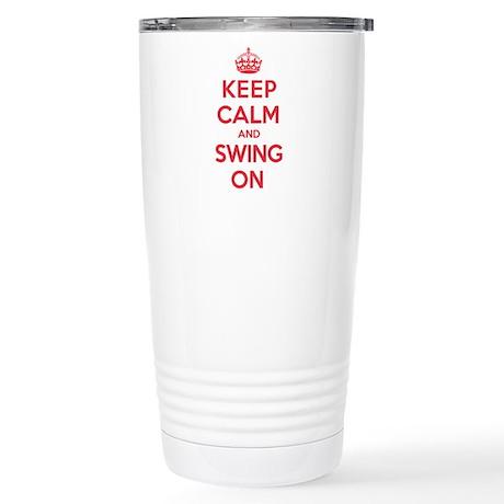 K C Swing On Stainless Steel Travel Mug
