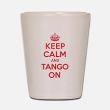K C Tango On Shot Glass