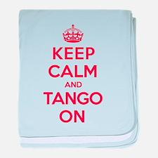 K C Tango On baby blanket