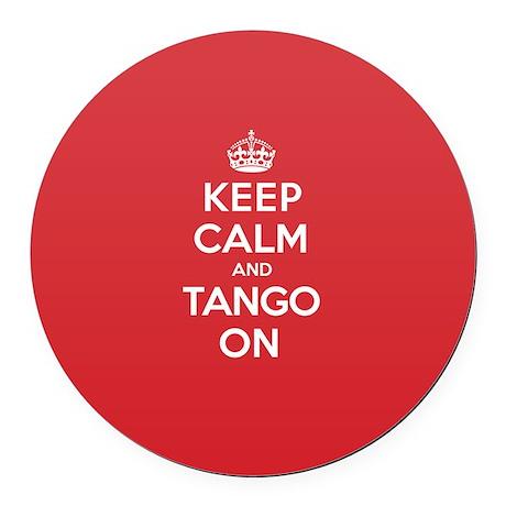 K C Tango On Round Car Magnet