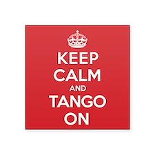 "K C Tango On Square Sticker 3"" x 3"""