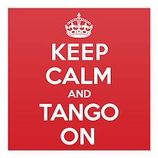 """K C Tango On Square Car Magnet 3"""" x 3"""""""