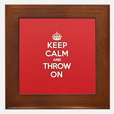 K C Throw On Framed Tile