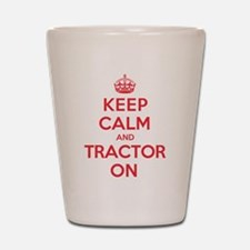 K C Tractor On Shot Glass