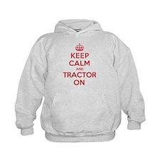 K C Tractor On Hoodie