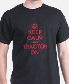 K C Tractor On T-Shirt