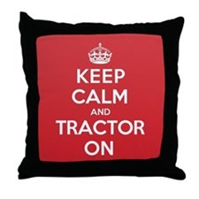 K C Tractor On Throw Pillow