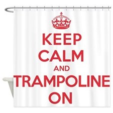 K C Trampoline On Shower Curtain