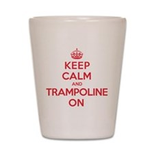 K C Trampoline On Shot Glass
