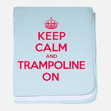 K C Trampoline On baby blanket