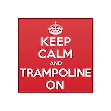 "K C Trampoline On Square Sticker 3"" x 3"""
