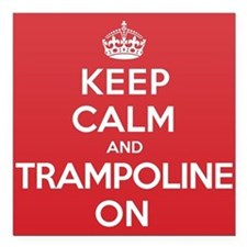 "K C Trampoline On Square Car Magnet 3"" x 3"""