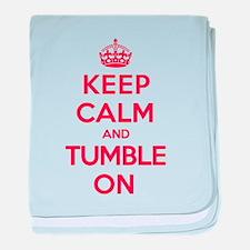 K C Tumble On baby blanket