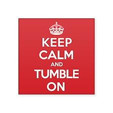 """K C Tumble On Square Sticker 3"""" x 3"""""""