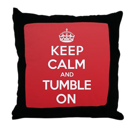 K C Tumble On Throw Pillow
