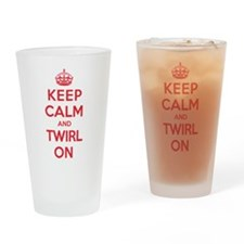 K C Twirl On Drinking Glass