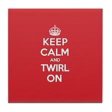 K C Twirl On Tile Coaster