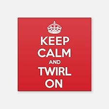 "K C Twirl On Square Sticker 3"" x 3"""