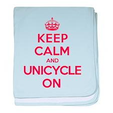 K C Unicycle On baby blanket