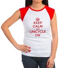 K C Unicycle On Women's Cap Sleeve T-Shirt