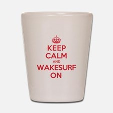 K C Wakesurf On Shot Glass