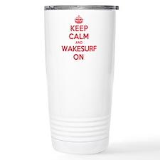 K C Wakesurf On Travel Mug