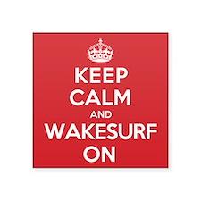 "K C Wakesurf On Square Sticker 3"" x 3"""