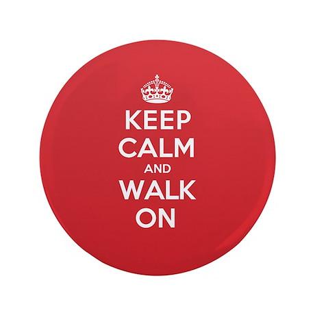 """K C Walk On 3.5"""" Button"""
