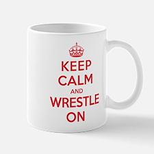 K C Wrestle On Mug