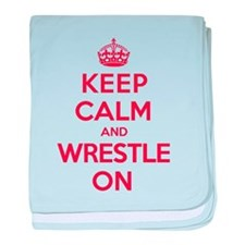 K C Wrestle On baby blanket