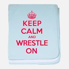K C Wrestle On baby blanket