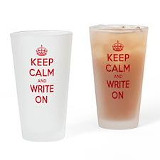K C Write On Drinking Glass