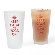 K C Yoga On Drinking Glass