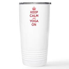 K C Yoga On Travel Mug
