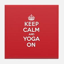 K C Yoga On Tile Coaster