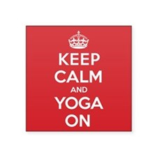 "K C Yoga On Square Sticker 3"" x 3"""