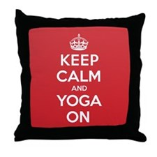 K C Yoga On Throw Pillow