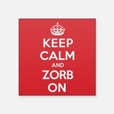 "K C Zorb On Square Sticker 3"" x 3"""