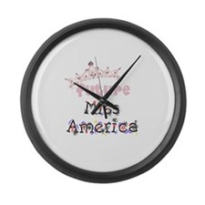Future Miss America Large Wall Clock