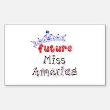 Future Miss America Sticker (Rectangle)