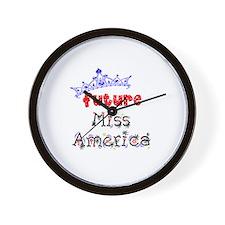 Future Miss America Wall Clock