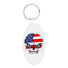 Freedom skull Keychains