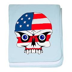 Freedom skull baby blanket