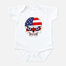 Freedom skull Infant Bodysuit