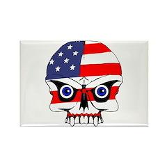 Freedom skull Rectangle Magnet (10 pack)