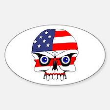 Freedom skull Sticker (Oval)
