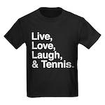 love and tennis Kids Dark T-Shirt