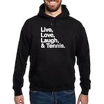 love and tennis Hoodie (dark)