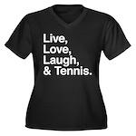 love and tennis Women's Plus Size V-Neck Dark T-Sh